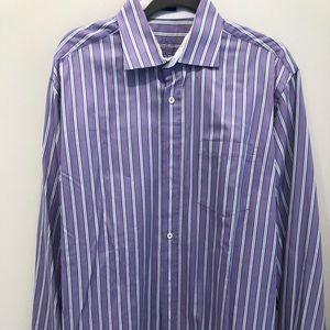 Bugatchi purple ling sleeve shirt